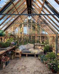 Best Indoor Garden Ideas for 2020 - Modern Backyard Greenhouse, Greenhouse Plans, Backyard Patio, Backyard Landscaping, Outdoor Rooms, Outdoor Gardens, Outdoor Living, Indoor Garden, Architecture Renovation