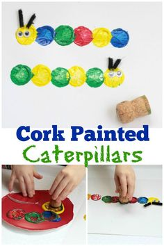 The Very Hungry Caterpillar First Birthday Party Games and Activities 7 - Spring Crafts For Kids The Very Hungry Caterpillar Activities, Hungry Caterpillar Party, Caterpillar Preschool, Insect Crafts, Bug Crafts, Garden Crafts, Clay Crafts, Preschool Art Projects, Preschool Crafts