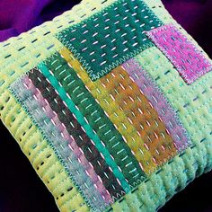 Pincushion - Stitched, Patched and Quilted by Victoria Gertenbach
