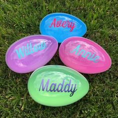 Set of 4 Jumbo Plastic 8 inch Easter Eggs Large Plastic Easter Eggs, Jumbo Easter Eggs, Easter Egg Crafts, Easter Projects, Easter Ideas, Pink Blue, Blue Green, Craft Shop, Easter Party