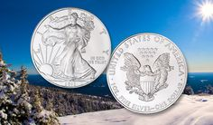 Uncirculated Silver American Eagles sparkle
