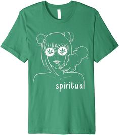 Amazon.com: New Age Spiritual Boho Shirt Women Smoking Cannabis 420 Weed Premium T-Shirt: Clothing