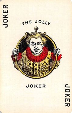 The Jolly Joker Single Swap Vintage Old Playing Card