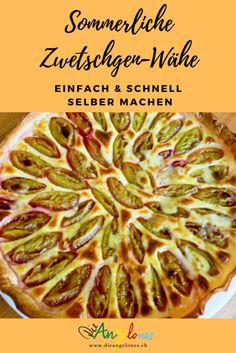 Die Zwetschgen-Wähe ist im Sommer ein Schweizer Klassiker auf dem Familientisch. Unser Rezept ist gelingsicher und kann für jede Art von Früchten eingesetzt werden. #Zwetschgen #LaCucinaAngelone #DieAngelones Organic Matter, Tips, Desserts, Quiches, Happy, Pie, Oven, Diy, Swiss Guard