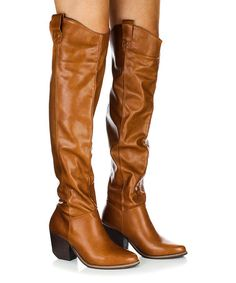 345324595f2 Another great find on  zulily! Camel Victoria Western Over-the-Knee Boot