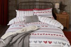 Buy Bird Print Brushed Cotton Bed Set from the Next UK online shop