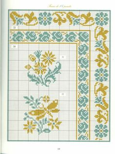 Borders in cross stitch 4 by tommie Cross Stitch Geometric, Cross Stitch Borders, Cross Stitch Flowers, Cross Stitch Charts, Cross Stitch Designs, Cross Stitching, Cross Stitch Patterns, Diy Embroidery, Cross Stitch Embroidery