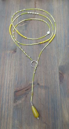 """ENDOFEASONSALE!! Take 30% off. Beaded Lariat  Necklace 50-52"""" Anh"""