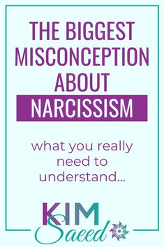 The Biggest Misconception about Narcissism - Kim Saeed: Narcissistic Abuse Recovery Program Narcissist Quotes, Relationship With A Narcissist, Dealing With A Narcissist, Toxic Relationships, Relationship Advice, Narcissistic People, Narcissistic Behavior, Narcissistic Abuse Recovery, Narcissistic Sociopath