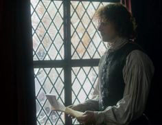 "Jamie Fraser (Sam Heughan) in Episode 208 ""The Fox's Lair"" of Outlander Season Two on Starz"