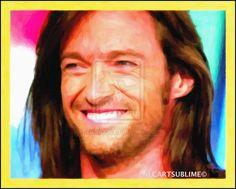 10-hugh Jackman Acteur Du 7 Art Nlc Portrait Copie by NLCARTSUBLIME.deviantart.com on @deviantART