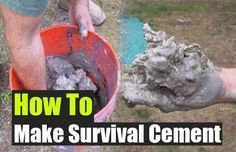 How To Make Survival Cement. See how easy it is to make your own cement if SHTF. You can repair homes, walkways and even build shelter with this stuff. #SurvivalShelterCommonSense