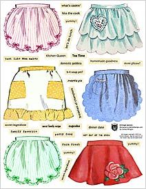 buy Vintage Aprons and then have a baking day. Vintage Apron Pattern, Retro Apron, Aprons Vintage, Vintage Patterns, Vintage Sewing, Sewing Patterns, Apron Patterns, Vintage Sheets, Vintage Linen