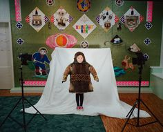 Picture of a Nenets kid in traditional costume