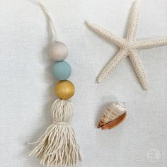 2PC Tassle Beads Natural Wood Bead Garland Kids Baby Nursery Room Decor Ornament