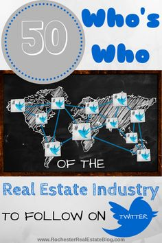 """The """"Who's Who"""" of the Real Estate Industry to Follow on Social Media - Twitter - http://rochesterrealestateblog.com/whos-real-estate-industry-follow-social-media-twitter/ via @KyleHiscockRE #realestate #twitter #socialmedia #smm #whoswho"""