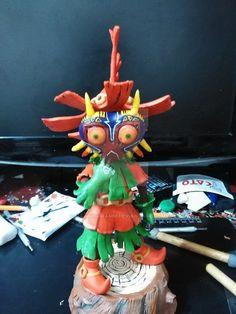 Skullkid by Magnusgramm on DeviantArt Legend Of Zelda, Birthday Candles, Sculptures, Deviantart, Christmas Ornaments, Holiday Decor, Handmade, Hand Made, Christmas Jewelry