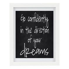 Go Confidently In The Direction of Your Dreams - inspirational print by ColourscapeStudios #auswandarrah #etsyauseller #etsyaufinds