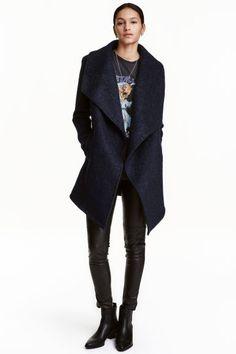 Dwurzędowy płaszcz - Ciemnoniebieski - ONA   H&M PL 1