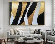Oil & acrylic handmade paintings on canvas Ron Deri by RonDeri - Canvas Painting Abstract Geometric Art, Abstract Canvas Art, Diy Canvas Art, Acrylic Canvas, Gold Leaf Art, Art Decor, Home Decor, Paintings, Design