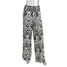 Calvin Klein Womens Printed Flat Front Wide Leg Pants