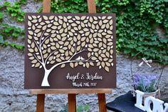 GOLD 3D Wedding guest book alternative tree by YellowStudioShop