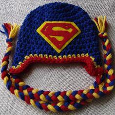 Newborn Superman Hat by PurpleOrchidCrochet on Etsy, $15.00