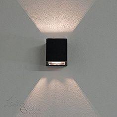 """'Moderne Up & Down Lampe d'extérieur Applique murale spot mural """"Maison de Stirling IP54en noir Lampe d'extérieur Lampe murale pour cour et jardin"""