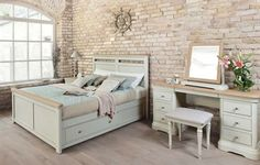 Lyon Solid Oak Bed Frame with Storage Stag Furniture, Bedroom Furniture Stores, Dining Furniture, Home Furniture, Painted Furniture, Painted Bed Frames, Painted Beds, Luxury Bed Frames, Solid Oak Beds