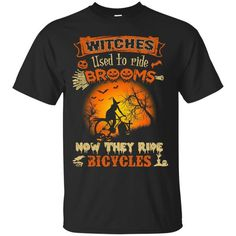 Bicycle Witch Halloween T-shirt Funny – RideGearz