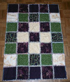Rag Quilt Patterns for Beginners | Learn How to Make a Rag Quilt Like placement of blocks