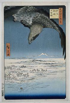 De Jumantsubo vlakte te Susaki bij Fukagawa, Hiroshige (I) , Utagawa, Uoya Eikichi, 1857