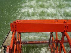 Roda d'água do Vapor Benjamim Guimarães, única embarcação a vapor ainda em atividade no mundo!