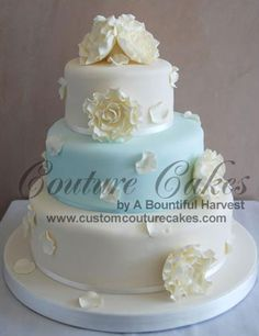 pretty wedding shower cake.