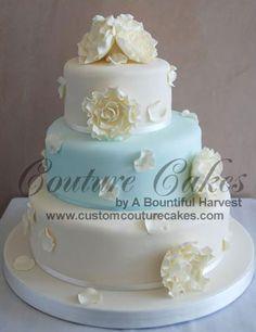 pretty wedding shower cake.