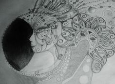 Sun and moons ball in pencil by Audrey Haney