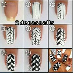 Geo print nail art tutorial