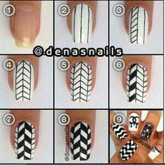Geo print nail art tutorial