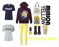 """""""Minions rock"""" by leyna-yost ❤ liked on Polyvore featuring 7 For All Mankind, claire's, Steve J & Yoni P, SJYP and Ash"""