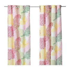 IKEA MURGRONA - Curtains, 1 pair, white, multicolour - 145x300 cm Ikea http://www.amazon.co.uk/dp/B015WZ4P1C/ref=cm_sw_r_pi_dp_MS7.wb0QWD5JM