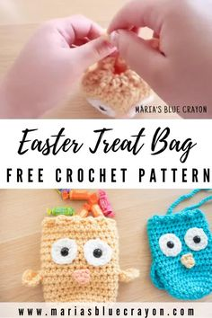 These adorable Easter chicks are fun little treat bags to gift for Spring and Easter Fill the bags with candy or other non-food goodies like stickers and small toys This free crochet pattern is easy to make and perfect for toddlers and groups of kids Crochet Easter, Easter Crochet Patterns, Crochet Food, Crochet Gifts, Free Easy Crochet Patterns, Crochet Teacher Gifts, Quick Crochet, Cute Crochet, Crochet For Kids