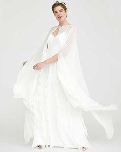 Alpaca and wool bolero, ivory - Max Mara Bridal, White Cape, Pure Silk, Bridal Accessories, Bridal Collection, Pull, Silk Dress, Ann Taylor, Ivory