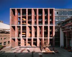 Chilean architect Alejandro Aravena, center, has won the 2016 Pritzker Prize. His UC Innovation Center at the San Joaquín Campus, Universidad Católica de Chile Santiago (left) and Constitución Cultural Center...