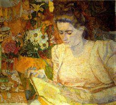 Jan Toorop - Portrait of Mrs M.J. de Lange (1900)