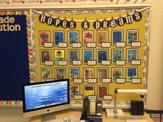 Using the power of Envisioning in grade to lay the groundwork for positive classroom community student success. Classroom Displays Ks2, School Library Displays, Classroom Organization, Classroom Behavior, Future Classroom, School Classroom, School Counseling Office, Classroom Design, Classroom Ideas
