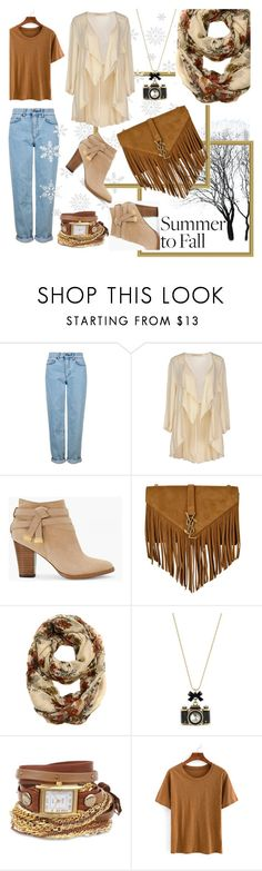 """bye summer"" by fifit-widyastuti ❤ liked on Polyvore featuring Topshop, Aniye By, White House Black Market, Yves Saint Laurent, Betsey Johnson, La Mer, layers and summerfall"
