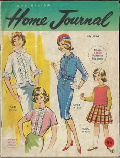 Sewing Patterns Free, Vintage Patterns, Free Pattern, Australian Homes, Journal, Magazines, Knitting, Book Covers, 1960s