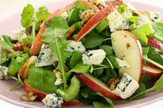 Tossed with apples and blue cheese, this mixed green salad is already a winner. But it's even better with skillet-toasted sugared walnuts!
