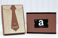 Father's Day Gift Card Box ~ Capture. Create. Inspire.