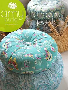 Amy Butler - Pattern saved on comp Sewing Hacks, Sewing Tutorials, Sewing Crafts, Sewing Projects, Sewing Patterns, Diy Pillows, Floor Pillows, Amy Butler Fabric, Hello Kitty Wallpaper